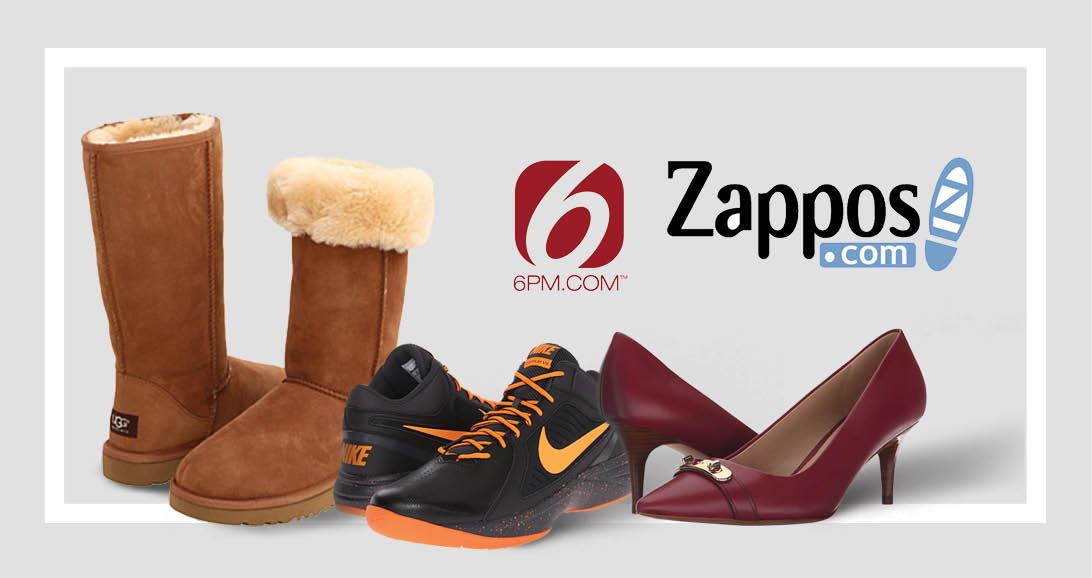 zappos و 6pm: خرید کفش برند!